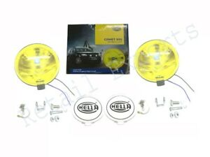 PAIR OF HELLA COMET 500 YELLOW 12V H3 DRIVING LAMP FOR JEEP, TRUCKS, 4x4, (EM)