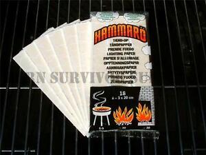 Fire Starting TINDER CARD for Bushcraft Survival Kit & BBQ Lighting Fuel Camping