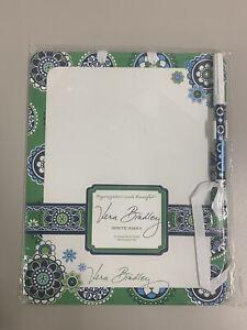 Vera Bradley WRITE AWAY Dry Erase Memo Board w/Pen New Sealed Cupcake Green