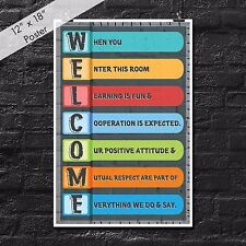 Classroom Poster Welcome Educational Teacher Preschool Inspirational Empowering