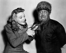 """LON CHANEY JR. & EVELYN ANKERS IN """"THE WOLF MAN"""" - 8X10 PUBLICITY PHOTO (AB-797)"""