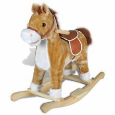 Kids Childrens Toddler Plush Toy Fun Play Ride on Rocking Horse Animal - Brown