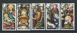 ISLE OF MAN 2005 CHRISTMAS SET OF 5 FINE USED