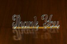"Perspex Mirror Acrylic Free Standing ""Thank You"" Plaques Signs Wedding Birthday"