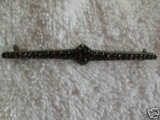 Antique Garnet Lapel Pin
