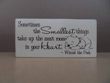 Shabby Winnie The Pooh Picture quote sign, free standing chic and unique