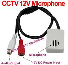 Adjustable Wide Range Spy Hidden Covert 12V CCTV Microphone for CCTV Camera DVR