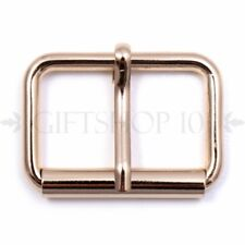1.25 Inch 32mm Rectangle Belt Strap Roller Buckle with Heel Bar Pin Gold - 10PCS