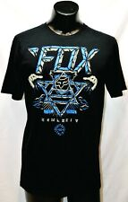 Mens Black Fox T-Shirt Size L