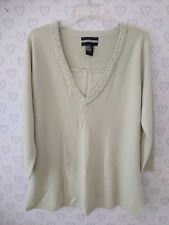 Requirements XL Sweater Shirt Blouse Top Beaded Gems Embellished Career SOFT B3