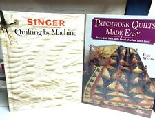 SINGER QUILTING BY MACHINE & Patchwork Quilts Made Easy