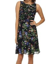 NWT $160  ADRIANNA PAPELL Women's Floral Printed Strapping Dress, Multi, Size 10