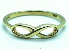 Solid gold Infinity knot ring Size R, UK Hallmarked 9ct, Free shipping #Xx