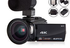 4K Camcorder Video Camera KOT HD WiFi 3.0 Inch IPS Touch Screen 48MP 16X Powe...