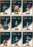Legend of Zelda Breath of the Wild Amiibo Set | 9 Custom Cards | Nintendo Switch