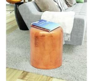 Copper Side Table Sofa End Oval Furniture Vintage Industrial Modern Living Room