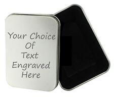Personalised Engraved Gift Tobacco Tin, Birthday, Gift, Present, Smoking Lighter
