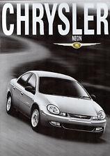 Chrysler Neon 2000-01 UK Market Sales Brochure 2.0 SE LX