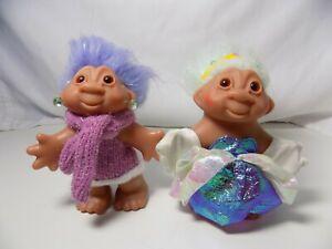 "Lot of 2 2005 Dam 5"" trolls, Princess and Sweater Lady"