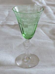 Beautiful Fostoria Spartan Green Wine Glass - C-2886