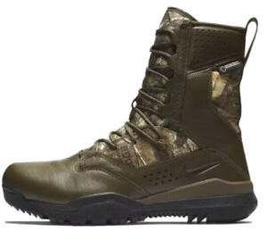 """Nike SFB Field 2 8"""" REALTREE BROWN CAMO AQ1203-200 HUNTING BOOTS TACTICAL 9"""
