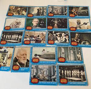 UK Topps STAR WARS Trading Cards 1977 Series 1 - Blue Border - 30 card bundle