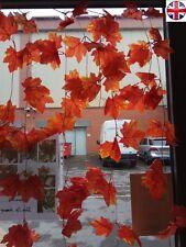 6 x Maple Garland Automne Feuilles Automne Mariage Décoration Soie Jardin Décoration Maison