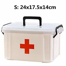 Family Medicine Kit First Aid Large Box Plastic Storage Pill Cases Empty Durable