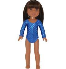 """Gymnastics Leotard for 14"""" Wellie Wishers Doll Clothes by TKCT blue diamonds"""