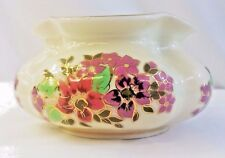 Zsolny Hungary Pecs Hand painted 1868 Small Segmented Vase Natural Color Numberd