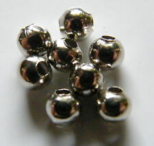500pcs 4mm Round Metal Iron Spacer Beads - Dark Silver