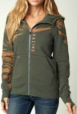 NEW FOX RACING VICIOUS ZIP HOODY WOMENS JUNIORS SMALL SM S MILITARY GREEN JACKET