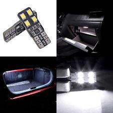 2 ampoules à LED blanc  w5w / T10 pour l'éclairage du coffre ou boîte à gants
