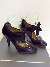 MODA IN PELLE DEEP PURPLE PATENT MARY JANE HEELS SIZE 3.5/36