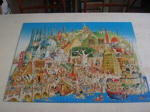 Heye 1500 Piece Jigsaw by Hugo Prades: Global City. With Poster