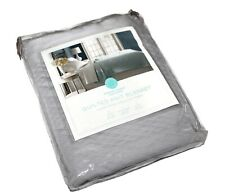 Martha Stewart Collection Quilted Triple Knit Blanket Gray Twin
