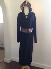 REBECCA MOSES Italy B. Goodman Black Minimalist Flowing Duster Coat $2.8K M