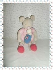 € - Doudou Peluche Souris Musicale Lila Rose Blanche Ours  Patachon Moulin Roty