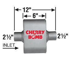 Ap Exhaust Muffler Cherry Bomb Extreme 2 12 Id X Od Oval 12 Oal Centercenter
