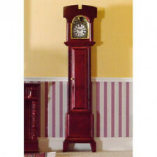 Dolls House Miniature 1:12th Scale Mahogany Grandfather Clock