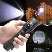 10000Lumens T6 Zoomable Tactical 18650 LED Flashlight Military Zoom Torch Lamp