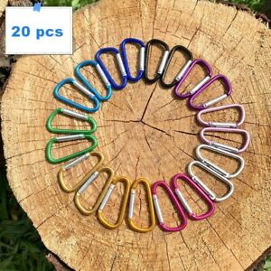 20x Small Carabiner Snap Hook D-Ring Key Chain Clip Hiking Camping AU Stock