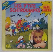 Peyo 45 Tours Les p'tits Schtroumpfs Marie Dauphin 1988