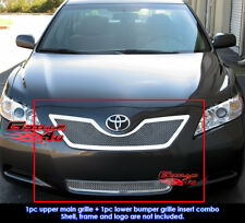 SS 1.8mm Mesh Grille Combo For 07-09 Toyota Camry LE