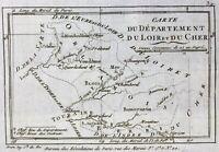 Loir et Cher en 1791 Vendome Cloye Montdoubleau Chambord Romorantin Amboise