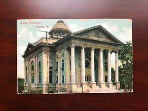US Postcard Jewish Synagogue, Atlanta, Georgia Posted 1908