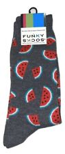 Funky Socks Watermelon Slices Theme One Pair Men's Novelty Crew Socks