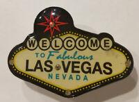 """Las Vegas Sign Pin Welcome to Las Vegas Sign 1.25"""" Lapel Pin Enamel Light Up"""