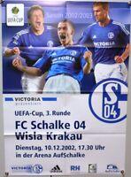 Offizielles Spielplakat + 10.12.2002 + UEFA + FC Schalke 04 vs. Wisla Krakau #28