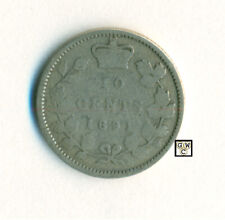 Canada 1891 - 22 Leaves 10cents Coin ; Very Good ; CPF